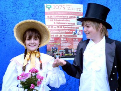 Foto zur Meldung: Blanka und Ludwig laden zur 1075 Jahr-Feier nach Zielitz ein