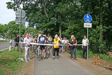 """Foto zur Meldung: Lücke im Rad- und Skaterweg """"Schönower Heide"""" geschlossen"""