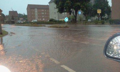 Foto zur Meldung: Ausnahmezustand in Calau nach schweren Unwetter