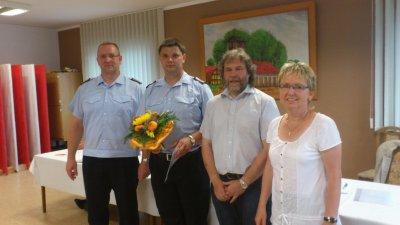 Foto zur Meldung: Neue Ortswehrführung in der Feuerwehr Calau berufen