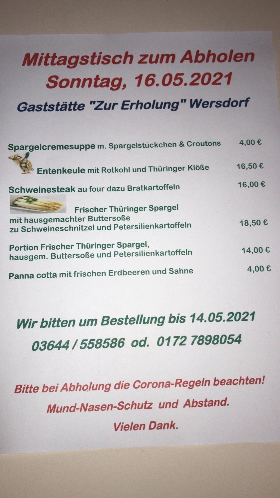 Gaststätte Zur Erholung - 16.05.2021