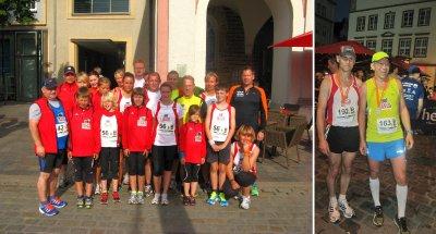 Foto zur Meldung: 10. Hella Marathonnacht in Rostock - mit dem SC Laage auf und neben der Strecke