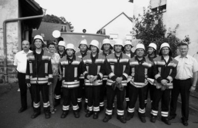 """Foto zur Meldung: FFW Biebelried Erfolgreiche Teilnehmer der Leistungsprüfung """"Die Gruppe im Löscheinsatz"""""""