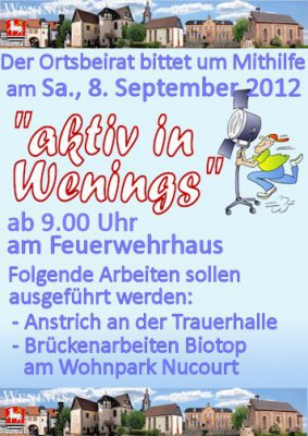 "Aktionstag ""Aktiv in Wenings"""