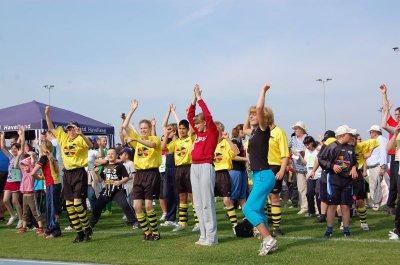Foto zu Meldung: Zum ersten Mal in Falkensee: Spiel und Spaß beim Integrationssportfest des Landkreises