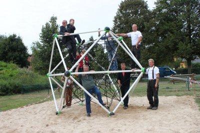 Bild der Meldung: Spielplatz Münchehofe hat neue Attraktion