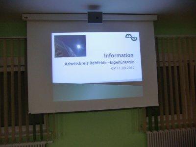 Foto zur Meldung: Beschluß der Gemeindevertreter zum Kommunalen Energiekonzept Rehfelde