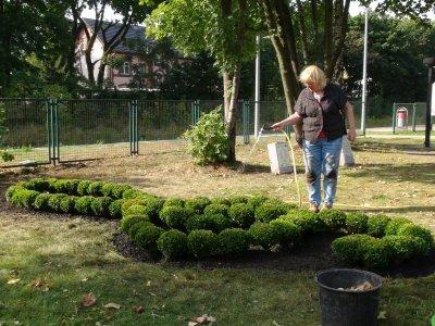 Foto zur Meldung: Notenschlüssel gepflanzt