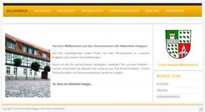 Foto zur Meldung: Neue Internetseiten der Stadtbibliothek Uebigau