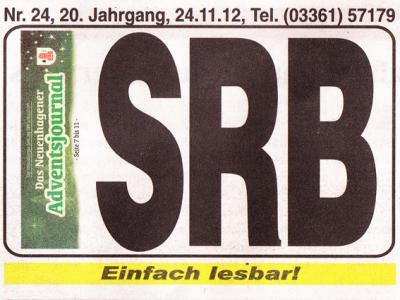 Foto zu Meldung: Feedback von der SRB-Zeitung