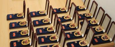 Foto zu Meldung: 5 goldene Feuerwehr-Ehrenzeichen verliehen