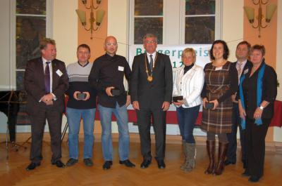 Vorschaubild zur Meldung: Der Bürgerpreis 2012 wurde verliehen - Falkenseer Ehrenamt mit vielen Gesichtern und Geschichten
