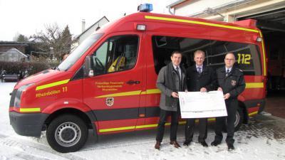 Foto zur Meldung: Provinzial fördert Feurerschutzmaßnahmen