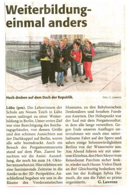 Foto zu Meldung: Lehrerweiterbildung in der Hauptstadt Berlin