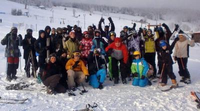 Foto zur Meldung: 2. Deutsch-Polnisches Skiprojekt zwischen der GS/OS Schenkenland Groß Köris und der Partnerschule aus Skwierziena