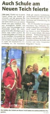 Foto zu Meldung: Weihnachten in der Schule am Neuen Teich Lübz
