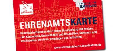 Foto zur Meldung: Beantragen: Ehrenamtskarte des Landes Brandenburg