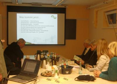 Foto zur Meldung: Informationsrunde Partnergemeinde Zwierzyn und AK Rehfelde-EigenEnergie