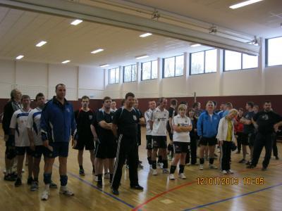 Foto zur Meldung: Laager Volleyballer mischten in Kritzkow gut mit