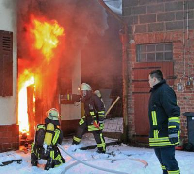 Foto zu Meldung: Brand brach im Heizungsraum aus