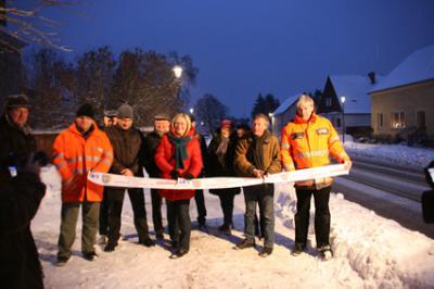 Foto zur Meldung: Geh-, Radweg in Basdorf fertig ausgebaut - Ein Projekt mit langer Historie