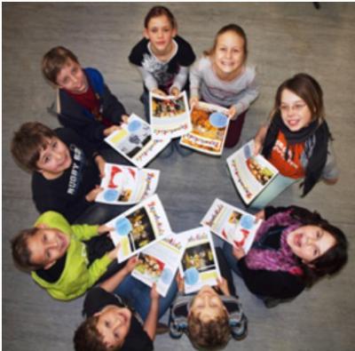 """Foto zur Meldung: AOK-Sonderpreis: """"Reporterkids"""" aus Groß Köris Preisträger beim Schülerzeitungswettbewerb"""