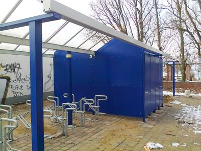 Foto zur Meldung: Fahrradboxen am Wandlitzer Bahnhof