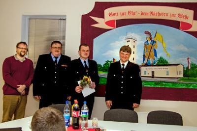 Foto zu Meldung: Jahreshauptversammlung im neuen Versammlungsraum der Grödener Feuerwehr