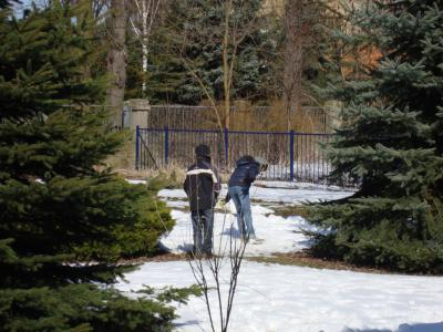 Foto zur Meldung: Ostereier im Schnee ...