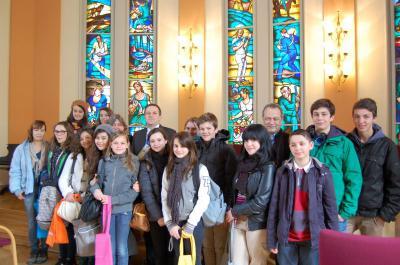 Foto zur Meldung: Französische Austauschschüler lernen Falkensee kennen