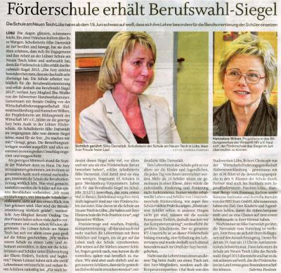 Foto zu Meldung: Audit zum Berufswahl-SIEGEL M-V am 10.04.2013