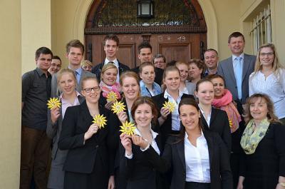 Foto zur Meldung: Niederländische Auszubildende zu Gast im Landratsamt