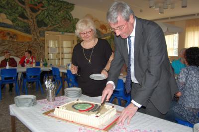 Foto zu Meldung: Mit Torte und vielen Projekten - Lokales Bündnis für Familie feierte 5. Geburtstag