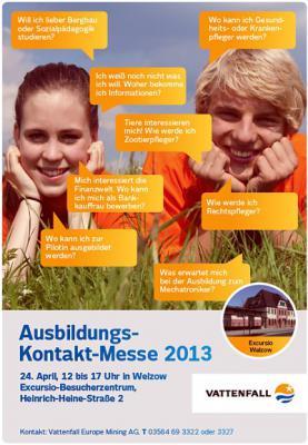 Foto zur Meldung: Ausbildungs-Kontakt-Messe 2013