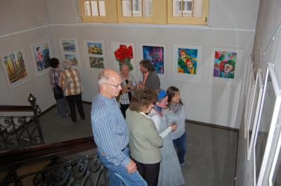 Foto zu Meldung: Luckauer Hobbykünstler stellen im Rathaus Calau aus
