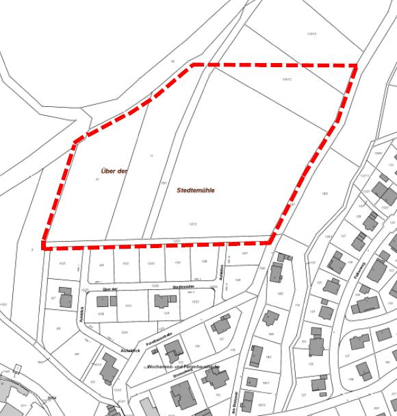 Geltungsbereich der 6. FNP – Änderung der Marktgemeinde Niederaula