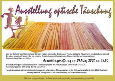 """Foto zur Meldung: Eröffnung der Kunstausstellung """"Optische Täuschung"""" am 07. März 2013"""