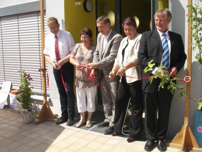 """Foto zu Meldung: Feierliche Eröffnung der neuen Kindertagesstätte """"Häschengrube"""" und des DRK Mehrgenerationenhaus in der Gemeinde Rückersdorf"""