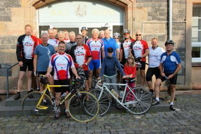 Foto zur Meldung: Traditionelle Radtour wieder auf den Kreuzberg
