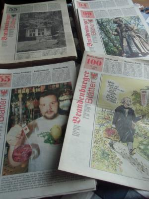 Foto zur Meldung: Brandenburger Blätter komplett in der Heimatstube