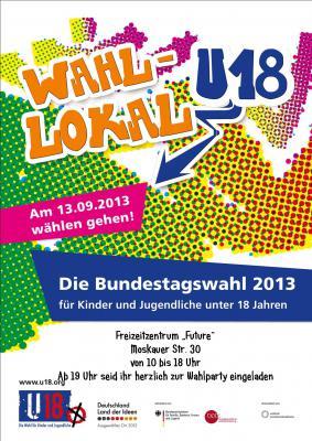 """Foto zur Meldung: Bundesweite u18 Wahl am 13.09.2013 im Freizeitzentrum """"Future"""""""