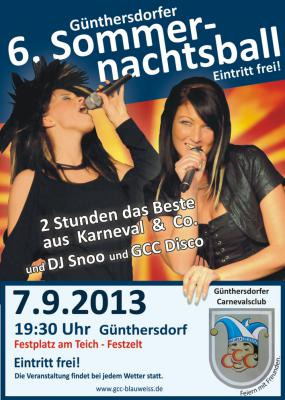 Foto zur Meldung: 6. Günthersdorfer Sommernachtsball am 7.9.2013