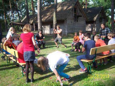 """Foto zur Meldung: IOS- Projekt """"Gemeinsam sind wir stark""""-Kennenlerncamp am Friedensteich"""