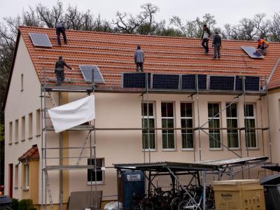Foto zu Meldung: Einweihung der Solaranlage