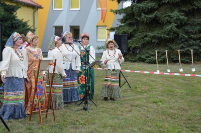 Foto zur Meldung: Startschuss für Neubau an der Gemeinschaftsunterkunft Sedlitz