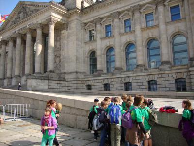 Foto zur Meldung: Golzower Grundschüler zu Gast im Deutschen Bundestag