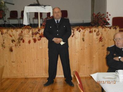 Amtswehrführer Uwe Schüler mit Ansprache