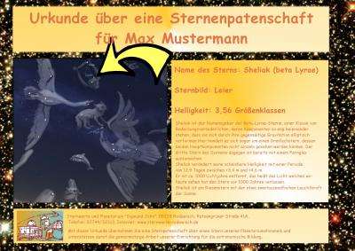 Foto zu Meldung: Sternenpatenschaften an unserem Planetariumshimmel