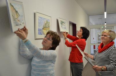 Foto zur Meldung: Ausstellung im Gesundheitsamt des Landkreises zeigt Heimat in Aquarellfarben