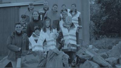 Foto zur Meldung: Jugendfeuerwehr Biebelried sammelt bei Tour de Müll 2013